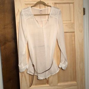 Mossimo lace tunic with belt